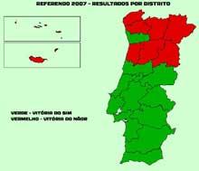 Resultados referendo 2007 por distrito