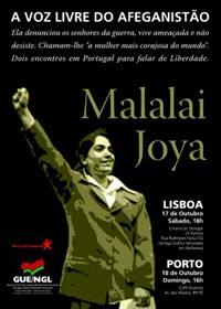 Malalai Joya estará em Portugal a 17 e 18 de Outubro