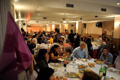 Jantar-comício em Frossos. Foto de Paulete Matos