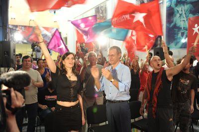 Noite eleitoral do Bloco. Foto de Paulete Matos