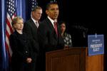 Presidente Obama e Hillary Clinton, nomeada secretária de Estado - 1 Dezembro 2008