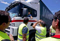 Piquete de camionistas em Albergaria-a-Velha. Foto de Sérgio Azenha, Lusa