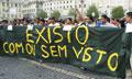 Manifestação de imigrantes em Lisboa, contra a