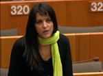 Marisa Matias apresenta uma conferência no Klimatforum, que junta os activistas em debates paralelos à Cimeira de Copenhaga