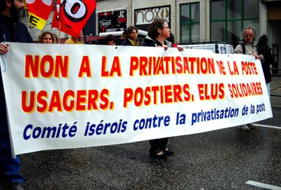 Não à privatização dos correios