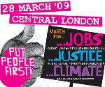 Marcha em Londres a 28 de Março (Sábado) pelo emprego, a justiça e o clima