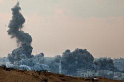 Gaza bombardeada, foto de Amir Farshad Ebrahimi disponível em Flickr