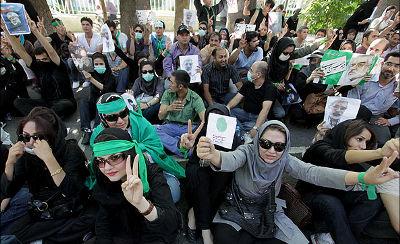Manifestação no Irão. Foto de .faramarz, FlickR