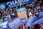 Obama em campanha, foto de Tracy Russo