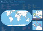 Mapa mundial dos paraísos fiscais, extraído de Tax Justice Network