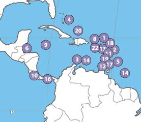 Paraísos fiscais nas Américas e Caraíbas, extraído de Tax Justice Network