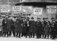 Protesto pela libertação de Sacco e Vanzetti (1927)