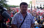 António Chora, numa mobilização internacional de trabalhadores da VW