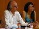 Boaventura Sousa Santos e Marisa Matias na abertura das jornadas autárquicas do Bloco de Coimbra