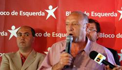 Miguel Portas fala durante o almoço da Madeira