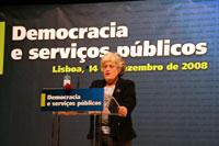 Fórum Democracia e Serviços Públicos - 14 de Dezembro de 2008 - foto de André Beja