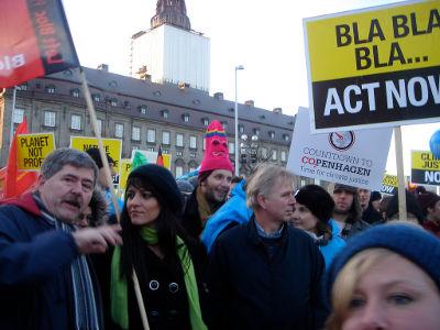Marisa Matias na Climate March Foto de Carmen Hilário