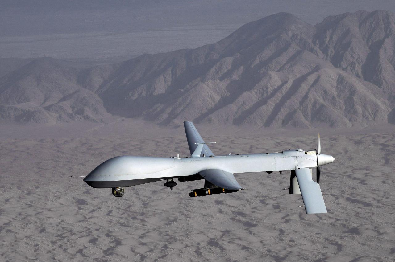 Os Estados-Unidos usam cada vez mais aviões não-pilotados para fazer bombardeamentos com misséis. Foto EPA.