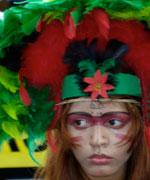 Os movimentos indígenas tiveram forte presença no Fórum - Foto: Emmanuelle Reungoat