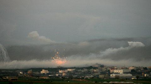 Gaza sob bombardeamentos aéreos, navais e terrestres - Foto da Lusa