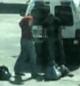 Imagem do vídeo da agressão em Madrid