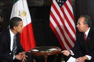 Obama e Calderón: imigração na agenda