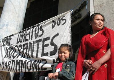 Manifestação de imigrantes em Março de 2009. Foto de Paulete Matos