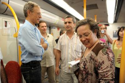 Bloquistas viajaram a Associação Comboios XXI entre Braga e Famalicão