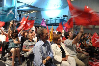 Festa na noite eleitoral do Bloco. Foto de Paulete Matos