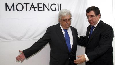 Jorge Coelho com Antonio Mota depois da Assembleia Geral  da Mota-Engil. ESTELA SILVA/LUSA