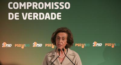 Manuela Ferreira Leite apresentou programa so PSD - Foto da Lusa