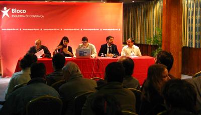 O debate juntou Marisa Matias, o meteorologista Costa Alves e dirigentes da Quercus, LPN e Geota. Foto André Beja