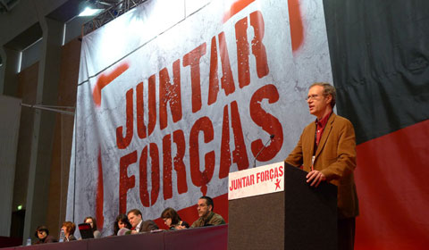 Francisco Louçã no encerramento da VI Convenção do Bloco. Foto Paulete Matos