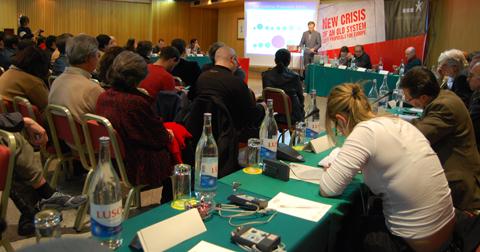 Francisco Louçã na abertura do encontro - Foto: Ana Candeias