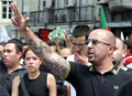 Mário Machado fazendo a saudação nazista