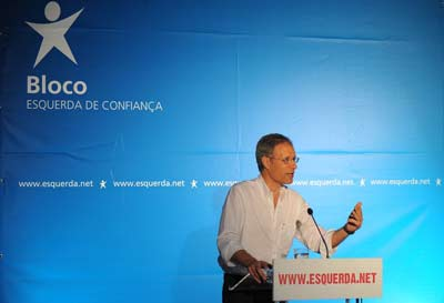 Francisco Louçã esteve em Viseu no comício de arranque da campanha de Verão. Foto Paulete Matos