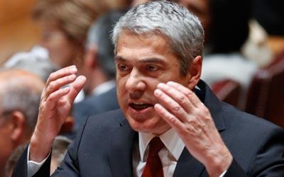 José Sócrates no debate da moção de censura - Foto da Lusa
