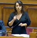 Ana Drago durante a sua intervenção parlamentar