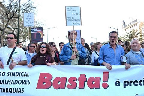 A manifestação da CGTP da passada sexta-feira juntou cerca de 200 mil pessoas na contestação ´`as políticas do governo. Foto de Paulete Matos