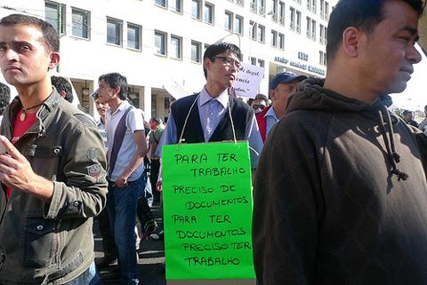 Imagem da manifestação de imigrantes de 15 de Março - Foto de Paulete Matos