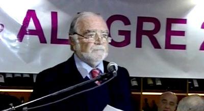 """Manuel Alegre em Bragança: Governo devia pedir sacrifícios """"ao sector financeiro, que é o grande beneficiário do sector público"""""""