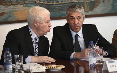 Teixeira dos Santos e José Sócrates