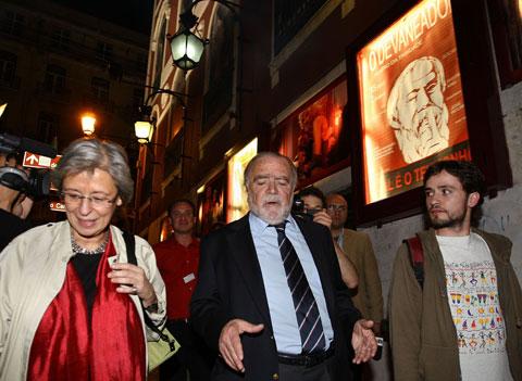 Manuel Alegre, Isabel Allegro e José Soeiro, no anterior encontro das esquerdas, no Teatro da Trindade