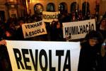 Protesto de professores em Março deste ano