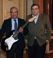 José Sá Fernandes e António Costa, numa iniciativa promocional do Rock in Rio Lisboa