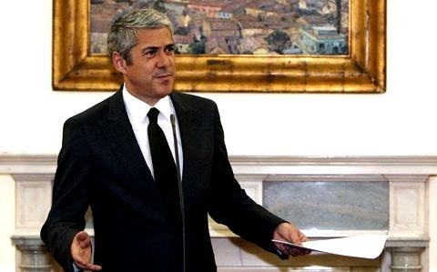 O primeiro-ministro José Sócrates. Foto da Lusa