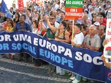 Manifestação da CGTP de 18 de Outubro de 2007. Foto Paulete Matos