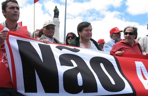 Manifestação da CGTP, Junho de 2008. Foto de Paulete Matos