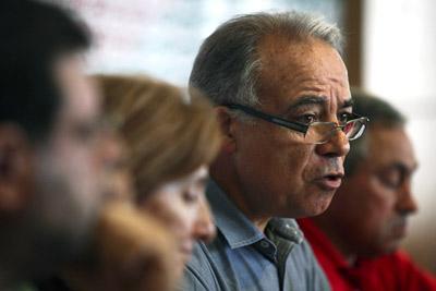 O Secretário-Geral da CGTP-IN, Carvalho da Silva, fala aos jornalistas sobre os resultados das eleições legislativas, esta tarde na sede do sindicato em Lisboa, 28 de Setembro de 2009. MIGUEL A. LOPES/LUSA