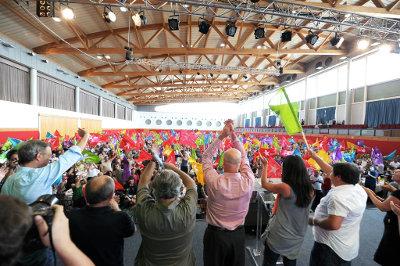 Almoço-comício do Bloco no Pavilhão Atlântico - Foto de Paulete Matos